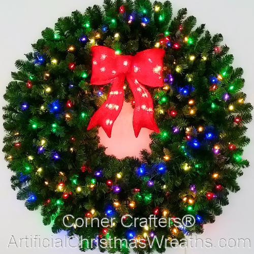 4 Foot Multi Color L.E.D. Christmas Wreath