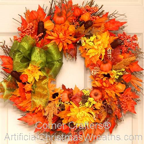 Autumn Splendor Thin Door Wreath