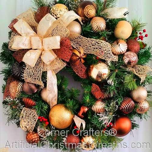 Champagne and Chocolate Elegance Wreath