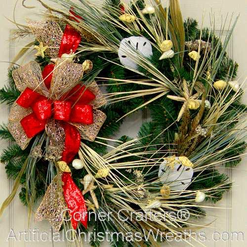 christmas at the beach wreath - Beach Christmas Wreath