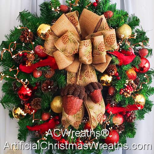 Country Christmas Wreath Artificialchristmaswreathscom