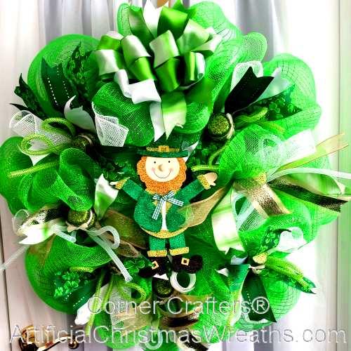 Deco Mesh St. Patricks Day Wreath
