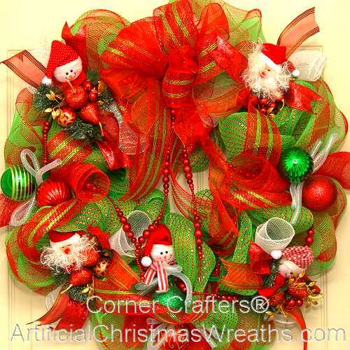 deco mesh christmas wreath - Deco Mesh Christmas Wreath
