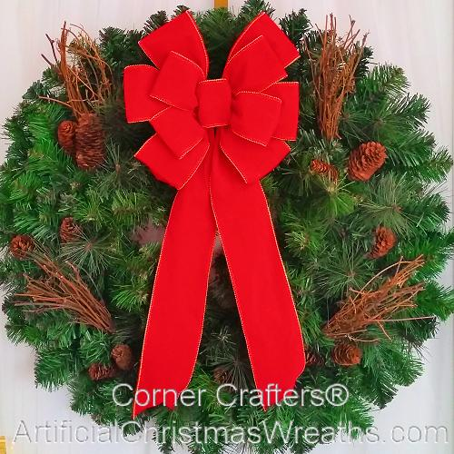 deluxe traditional christmas wreath