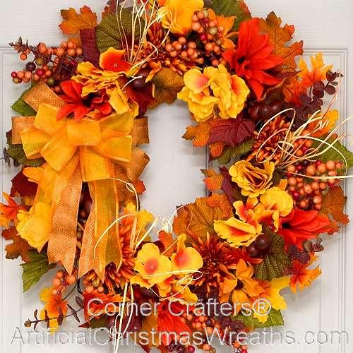 Fall Mums Wreath