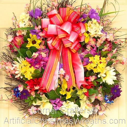 Floral Burst Spring Wreath