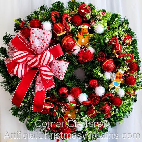 Gingerbread Man Christmas Wreath Artificialchristmaswreathscom
