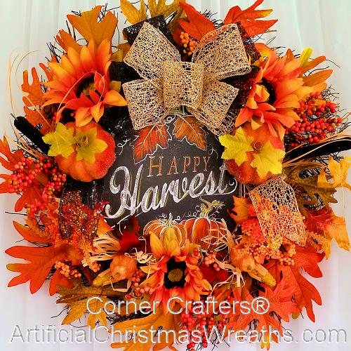 Happy Harvest Autumn Wreath