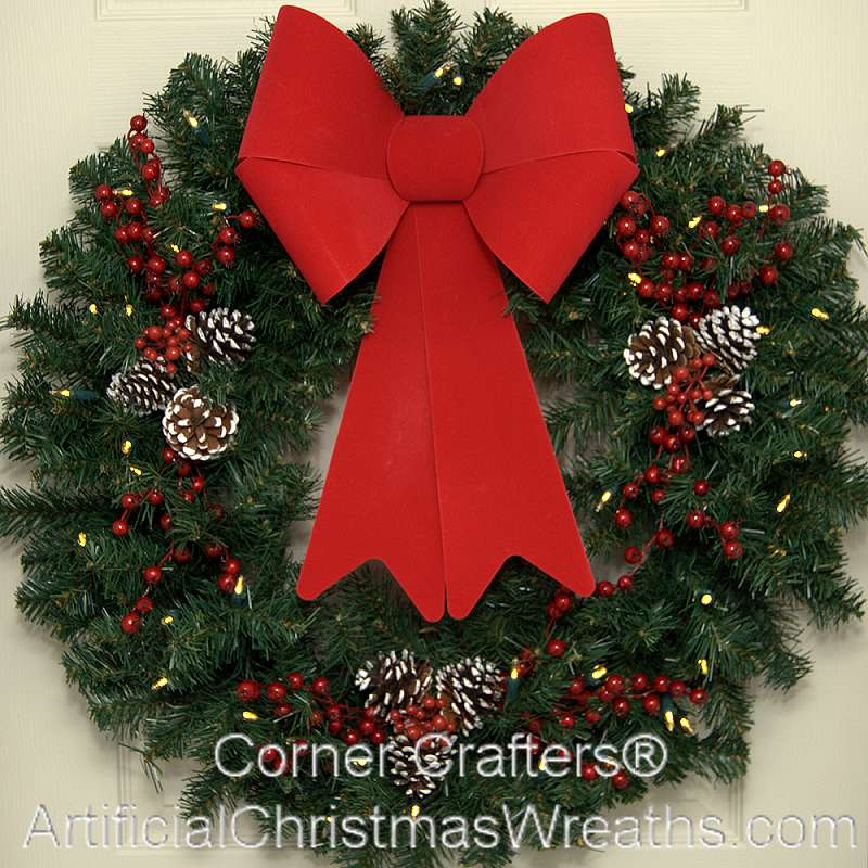 front artificial mesh decor christmas site decorated deco door wreaths wreath