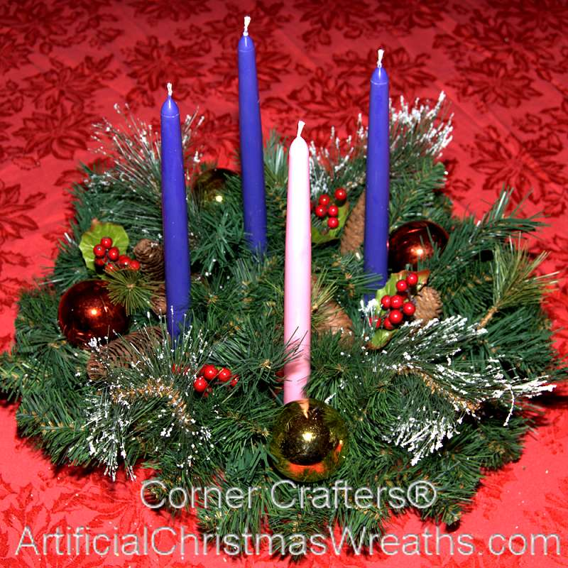 Christmas advent wreath for Advent decoration ideas