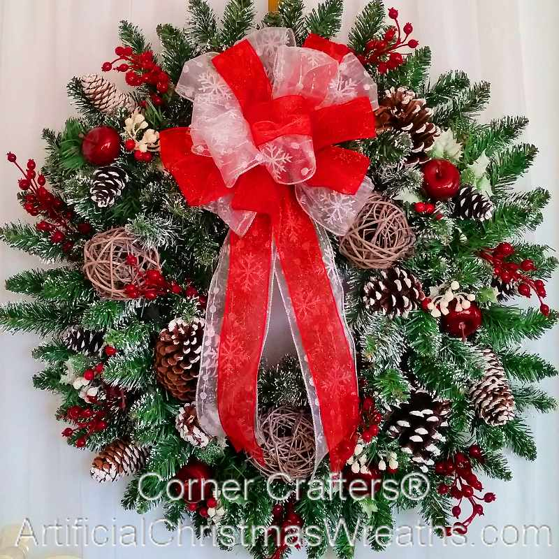 WINTER WONDERLAND WREATH | ArtificialChristmasWreaths.com ...