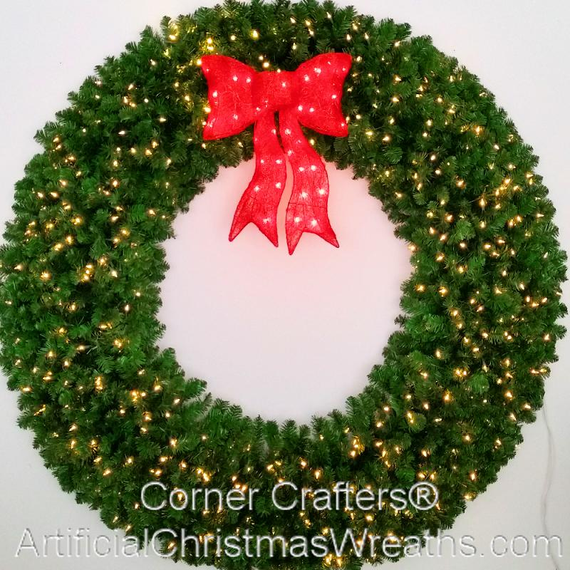 6 Foot L E D Christmas Wreath Artificialchristmaswreaths Com 72 Inch Free Shipping Commercial Grade Indoor Outdoor