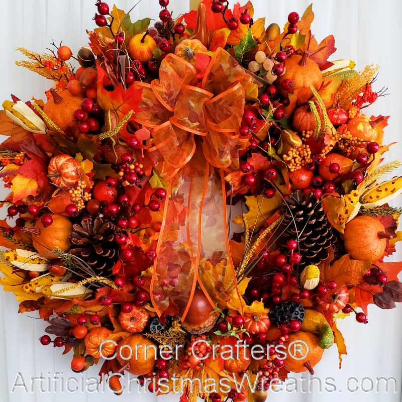 BOUNTIFUL HARVEST FALL WREATH