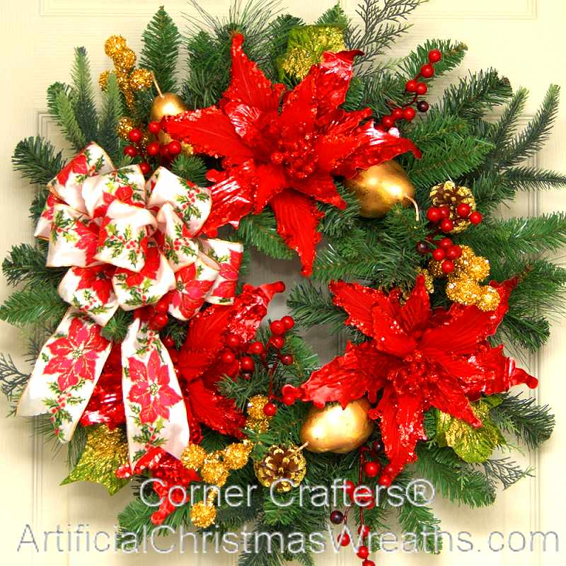 Christmas elegance wreath for 5ft poinsettia garland christmas decoration