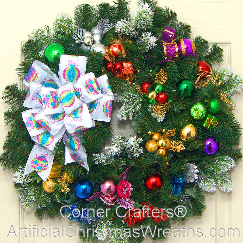 CHRISTMAS PRESENTS WREATH | ArtificialChristmasWreaths.com | CHRISTMAS ...