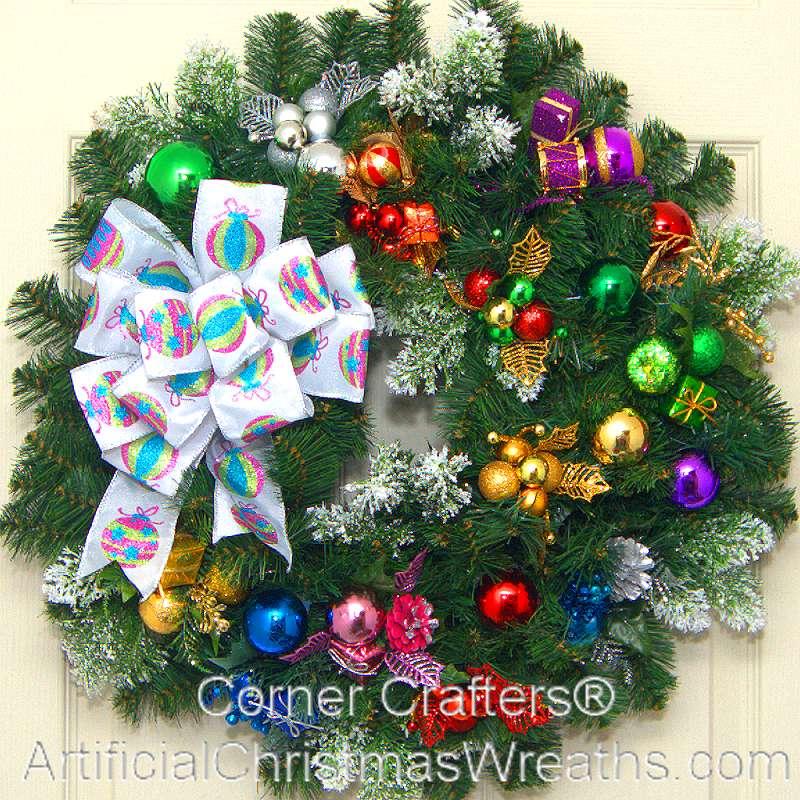 Christmas presents wreath artificialchristmaswreaths com christmas