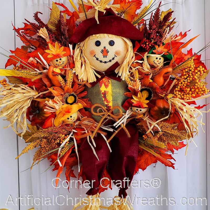 Wreath artificialchristmaswreaths com fall wreaths decorations