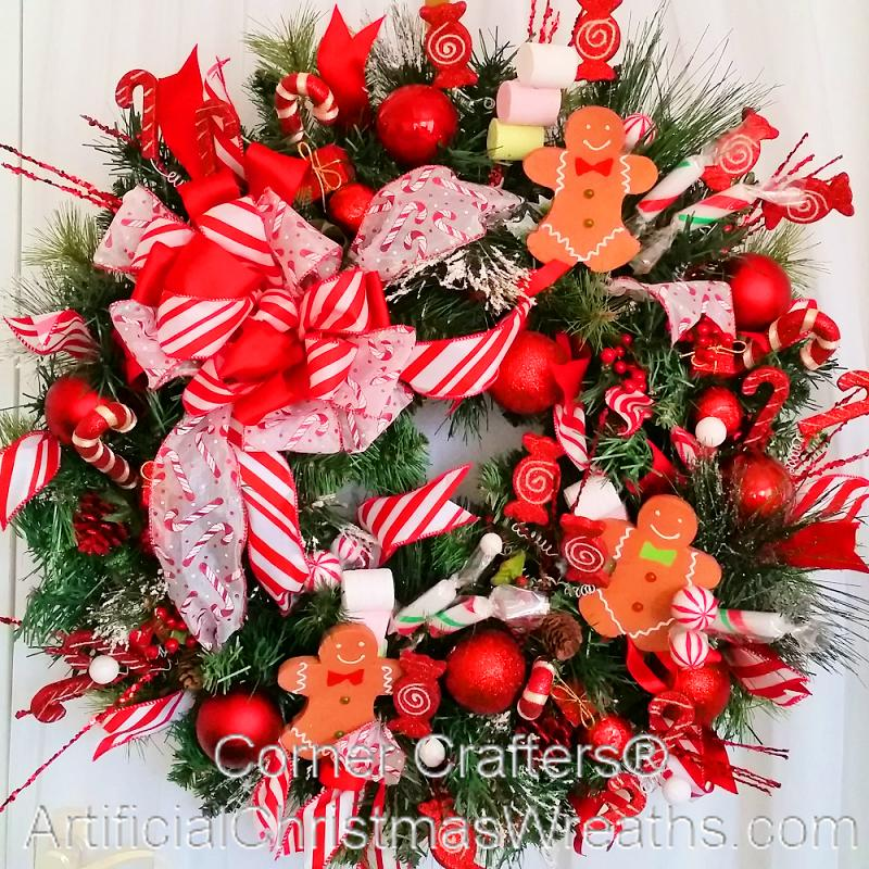 Holiday Bake Shop Wreath Artificialchristmaswreaths Com