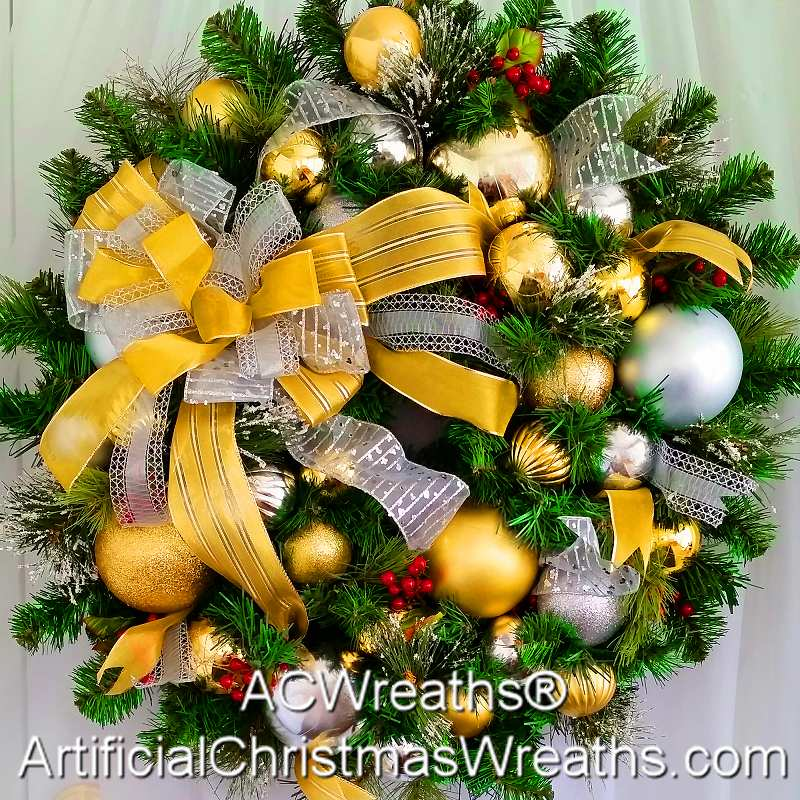 DECORATED CHRISTMAS WREATHS by Artificial Christmas Wreaths.com