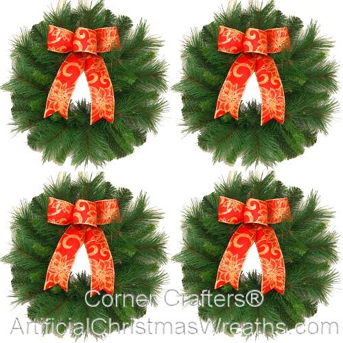 Burlap window shades - Window Wreaths Artificialchristmaswreaths Com Mini
