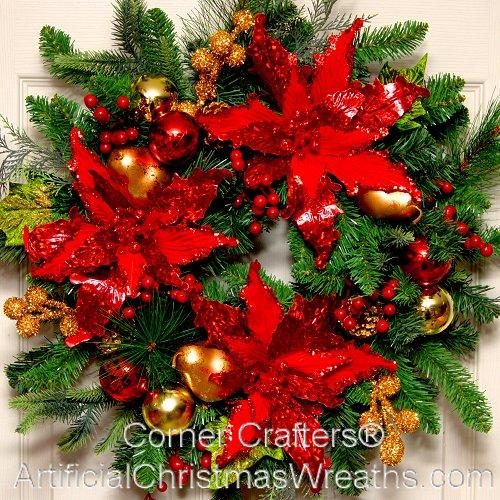 Poinsettia wreath for 5ft poinsettia garland christmas decoration