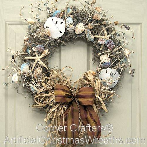 Sea Shell Wreath Artificialchristmaswreaths Com