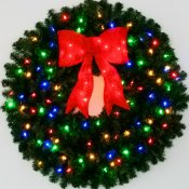 3 Foot Multi Color L.E.D. Christmas Wreath