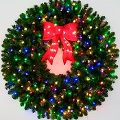 4 Foot Multi Color L.E.D. Christmas Wreath
