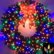 5 Foot Multi Color L.E.D. Christmas Wreath
