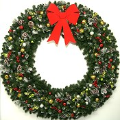 6 Foot (72 inch) Christmas Magic Wreath