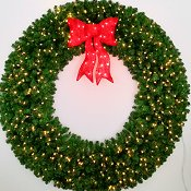 6 Foot (72 inch) L.E.D. Prelit Christmas Wreath