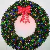 6 Foot Multi Color L.E.D. Christmas Wreath