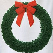 8 Foot (96 inch) Christmas Wreath