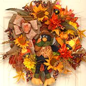 Friendly Crow Fall Wreath