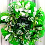 Deco Mesh St. Patricks Day Wreath