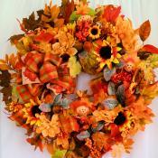 Fall Burlap Scarecrow Wreath $59.95!