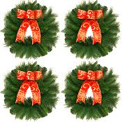 Mini-Traditional Christmas Wreaths