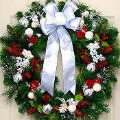 Thin White Christmas Wreath