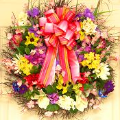 Floral Burst Spring Wreath