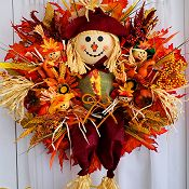 Hello Fall Scarecrow Wreath