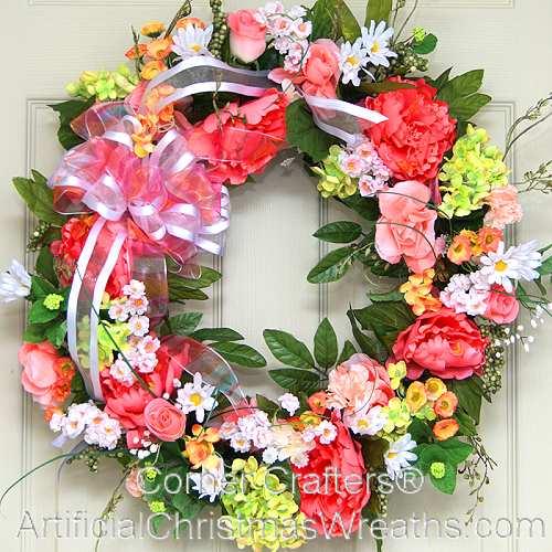 Spring floral wreath artificialchristmaswreaths floral wreaths mightylinksfo