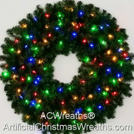 3 Foot (36 inch) Color Changing L.E.D. Prelit Christmas Wreath