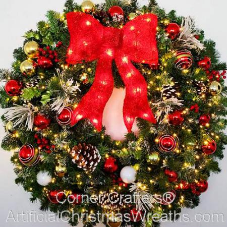 3 Foot (36 inch) LED Christmas Magic Wreath