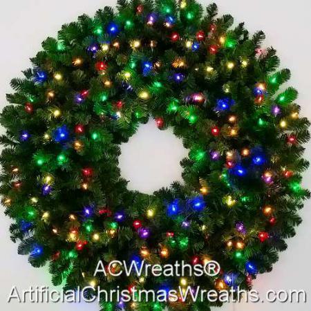 4 Foot (48 inch) Multi Color L.E.D. Christmas Wreath
