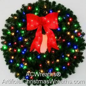 3 Foot Multi Color Christmas Wreath