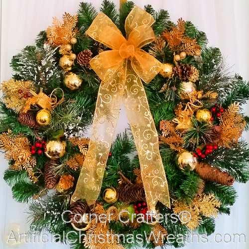 Thin Golden Splendor Christmas Wreath
