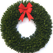 6 Foot (72 inch) Christmas Wreath (without lights)