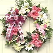Pretty in Pink Floral Wreath